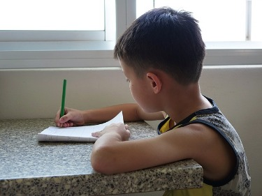 a child having english tuition picture